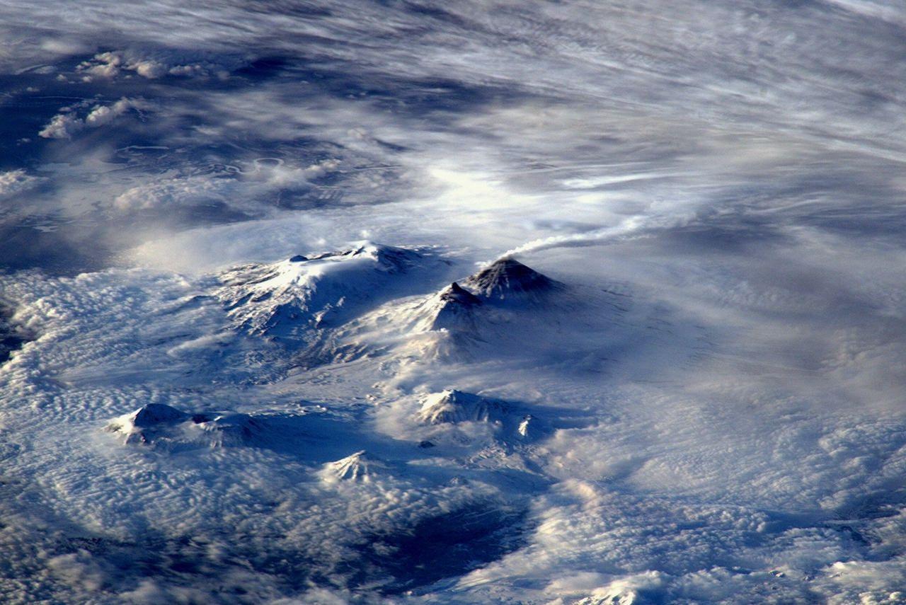 Вулкан на восточном побережье России